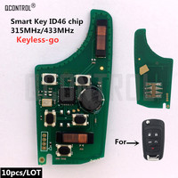 QCONTROL Car Control Alarm Remote Key Circuit Board for Chevrolet 315MHz 433MHz Keyless go Comfort access Keyless Entry 5Buttons