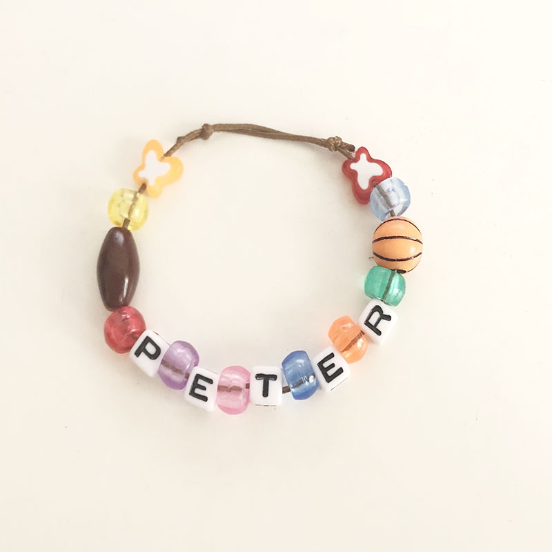 Make Your Own Bracelet Kid's Party Favor Letter Beads for Jewelry Making Kid DIY Personalised Friendship Bracelets
