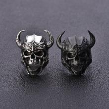 Gothic Minotaur skull Ring Vintage Indian Mens Ring Punk Biker Vintage Hip Pop Jewelry Gift Rings For Women A30