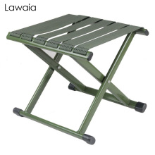 Lawaia Fishing Chair Army Green Outdoor Mini Portable Small Bench Military Super Light Wearable Folding Stool