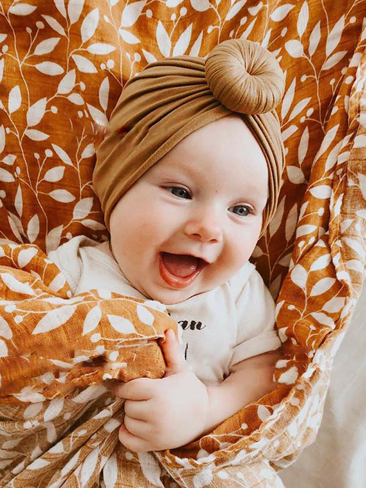 Baby Hat Bonnet Headwrap-Hat Hair-Band Flower Toddler Turban Newborn Infant Bowknot Soft
