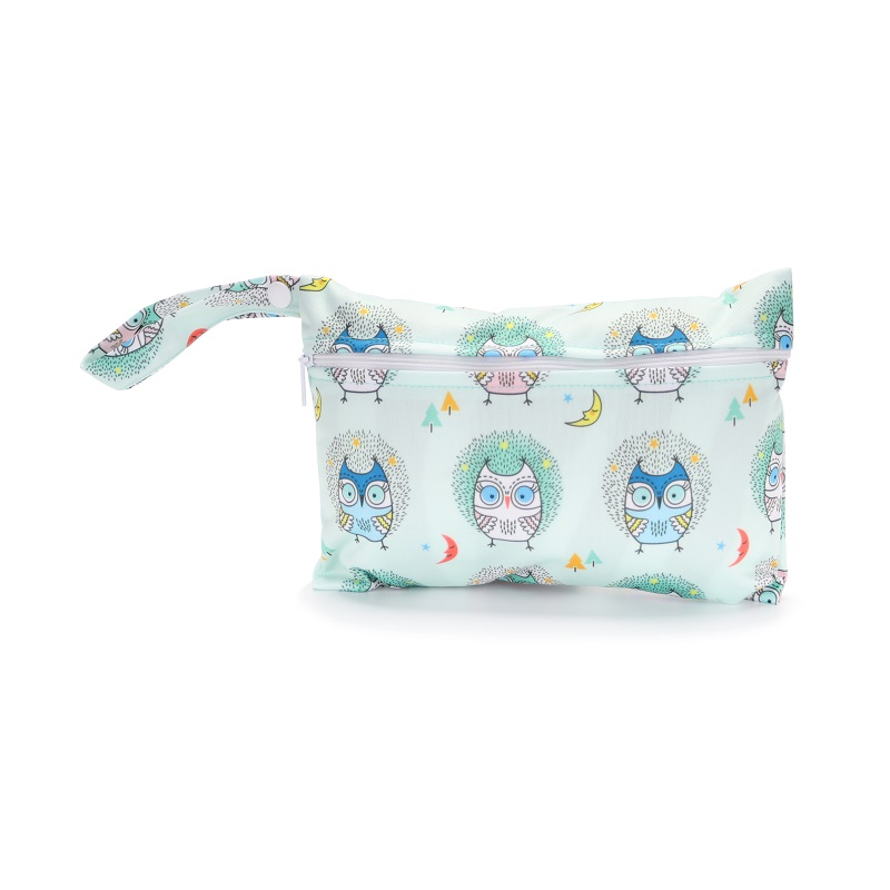 Mini Wet Bag Reusable For Nursing Menstrual Pads Waterptoof PUL Snap Handle Wetbag Maternity Diaper Bag Stroller Bags 15*22.5cm