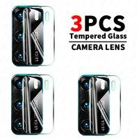 Cristal Protector de pantalla para Huawei P40 Pro Plus, cristal templado para lente de cámara, P30, P40 Lite E P Smart 2021, 3 unidades