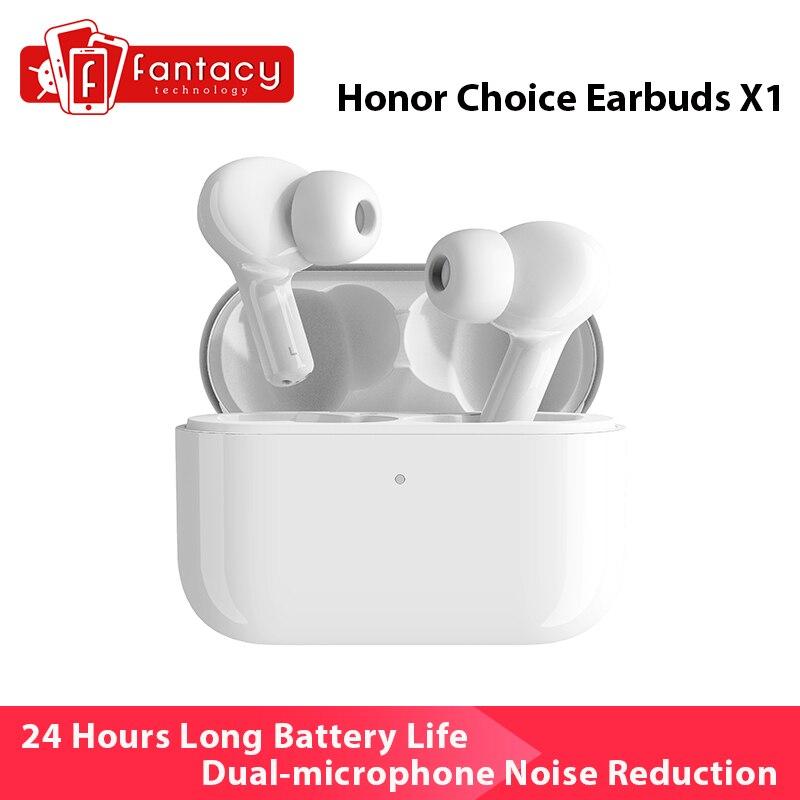 Глобальная версия Honor Choice наушники X1 TWS Беспроводные наушники с двойным микрофоном шумоподавление низкая задержка наушники Bluetooth 5,0