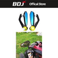 BDJ 1 Pair 7/8 22mm Universal Motor Mirror Aluminum Handle Bar Rearview Side Mirrors Motorcycle Accessories