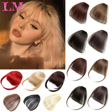 False-Hair-Piece Short-Bangs Fake-Fringe Clip-In Front Natural Synthetic Women Liangmo
