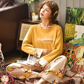 2020 piżamy zestaw odzież rekreacyjna kobiety piżamy kobiety bielizna nocna strój na noc odzież domowa kobiety lato Cartoon bawełniana bielizna nocna tanie i dobre opinie COTTON Zwierząt WOMEN Wokół szyi Pełnej długości Krótki summer
