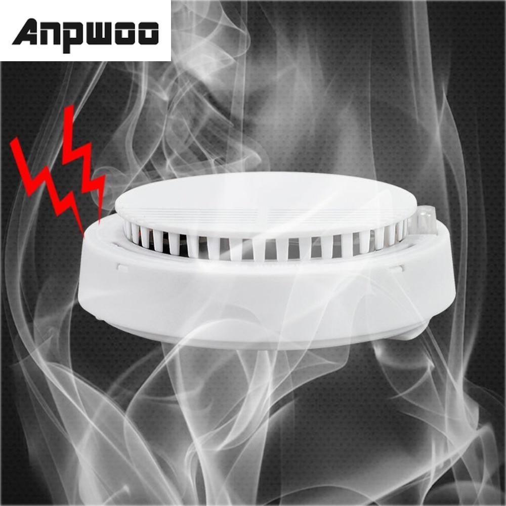 ANPWOO Smoke detector fire alarm detector Independent smoke alarm sensor for home office Security photoelectric smoke alarm