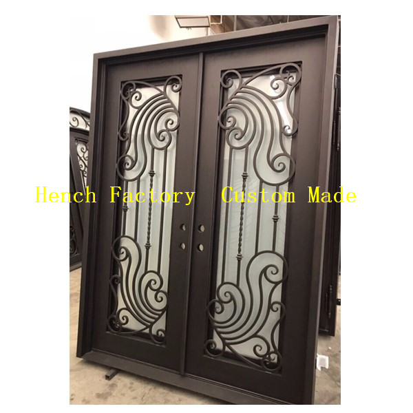 Shanghai Hench Brand China Factory 100% Custom Made Sale Australia Wrought Iron Security Patio Doors