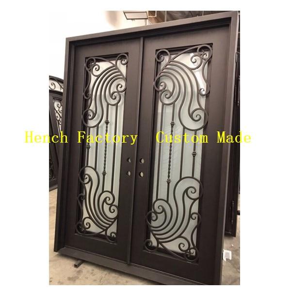 Shanghai Hench Brand China Factory 100% Custom Made Sale Australia Wrought Iron Security Patio Doors