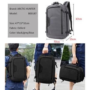 Image 3 - ARCTIC HUNTER New MenS Backpacks Bag USB charging High Quality Large capacity Laptop Notebook Mochila Waterproof Backpack Male