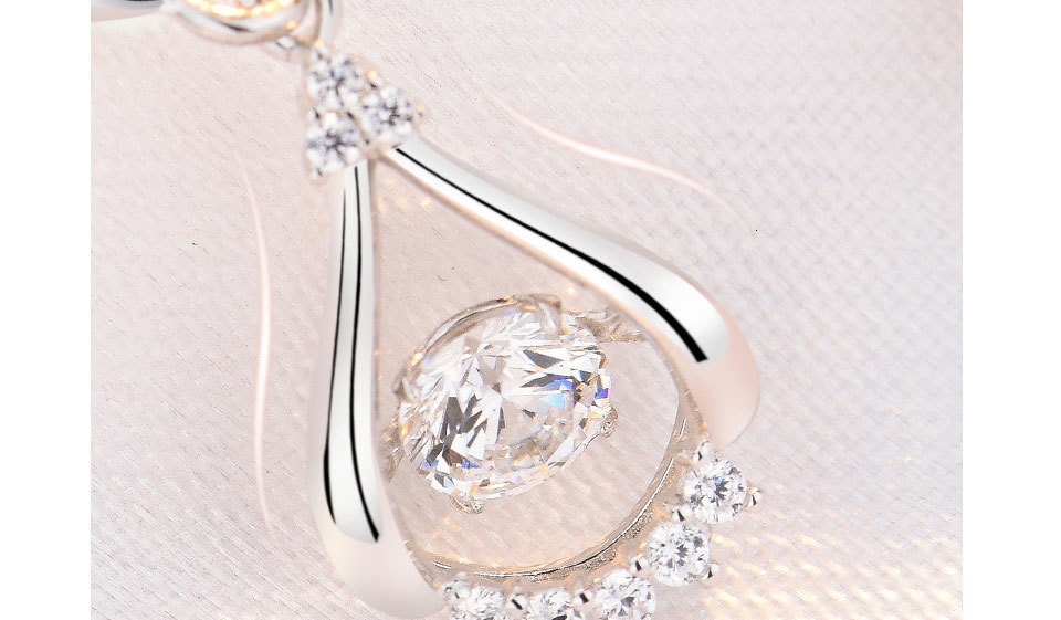 H14e75228e960440991a7a63b299ca88el - WEGARASTI Silver 925 Jewelry Zircon Drop Earrings For Women Real 100% Silver Earring Wholesale Party Wedding Gift Earring Silver