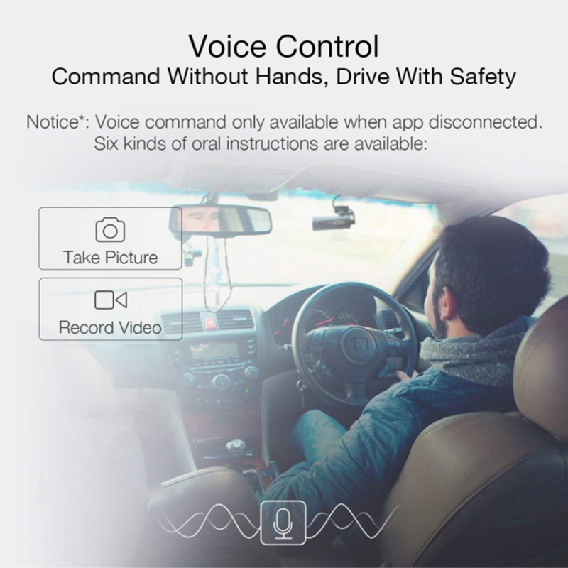 70mai Car Dash Cam with Voice Control 2