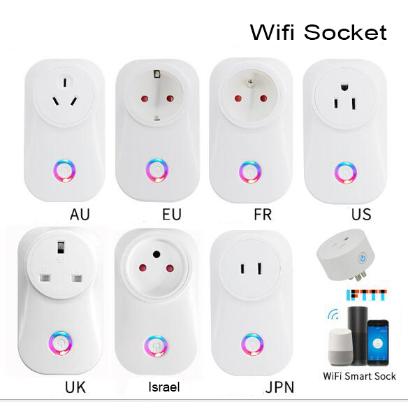 Умная розетка All Standard Smart Life, Wi-Fi, 2,4 ГГц, 10 А, работает с приложением Alexa Google Assistant IFTTT Smart Life