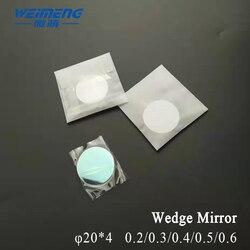 Weimeng klinowe lustro optyczne obiektyw φ20*4 kąt 0.2/0.3/0.4/0.5/0.6 kwarcowy 650-1064nm powłoka AR do laserowego SPAWARKA