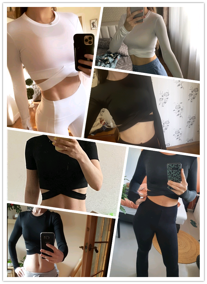 Vertvie Vrouwen Lange Mouwen Running Shirts Sexy Blootgesteld Navel Yoga T-shirts Effen Sport Shirts Quick Dry Fitness Gym Crop Tops