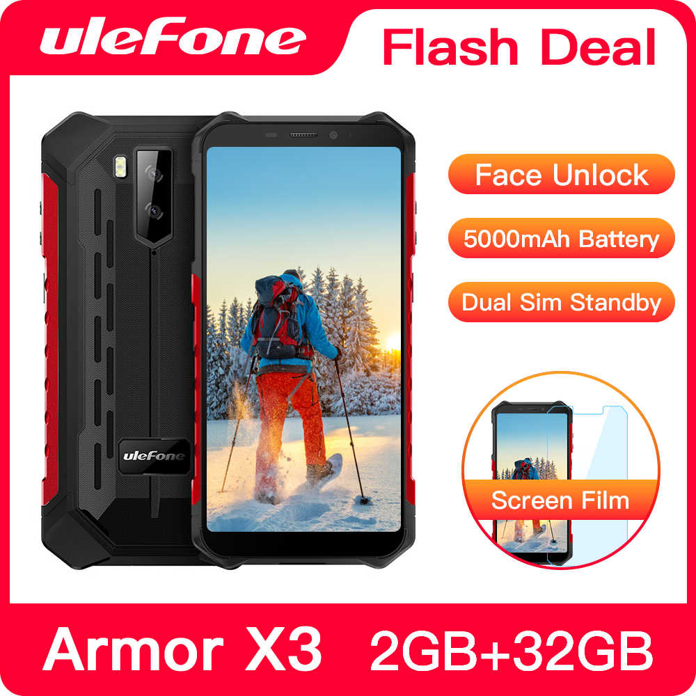 "Ulefone Armatura X3 Robusto Smartphone Android 9.0 IP68 Android 5.5 ""2GB 32GB 5000mAh 3G Rugged delle cellule Del Telefono Mobile Del Telefono Android"