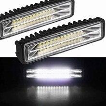 Światła samochodowe montaż Led światła przeciwmgielne Off Road 4x4 48W Spot Beam listwa świetlna Led dla ciężarówek ATV SUV DRL reflektory LED robocza listwa oświetleniowa