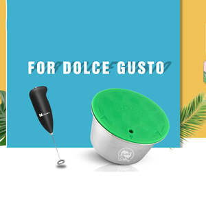 Capsule Refillable COFFEE-FILTER Dolce Gusto Milk-Crema Nescafe with Cup Compatible