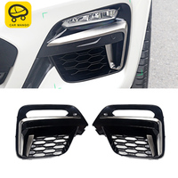 CARMANGO for BMW X3 G01 X4 G02 2017 2019 Car Front Grille Grill Net Sheet Fog Light Protector Frame Decorations Exterior Parts