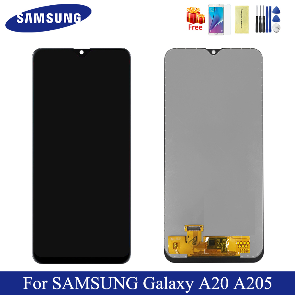 6.4'' TFT <font><b>LCD</b></font> For <font><b>Samsung</b></font> <font><b>Galaxy</b></font> <font><b>A20</b></font> <font><b>LCD</b></font> Display A205 A205S A205YN Display <font><b>Lcd</b></font> Screen Digitizer Replacement For SM-A205F A205FN image