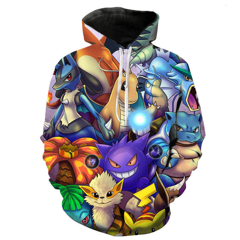 2020 Spring And Autumn Men's And Women's Hoodies Fashion Pokemon Kids 3d Printing Cartoon Anime Sweatshirt Pullover Coat 1