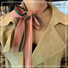 Шелковый шарф qianji в Корейском стиле повязка на голову Женский