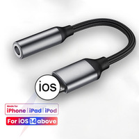 Cable auxiliar Lightning a conector de 3,5mm para iPhone, adaptador de auriculares para iPhone SE 2020 11 Pro Max XS XR X 8 Plus, dispensador de conector