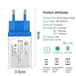 Image 5 - USB şarj cihazı hızlı şarj 3.0 2.0 ab/abd tak seyahat duvar hızlı şarj adaptörü Samsung HTC için tabletler telefon şarj cihazı