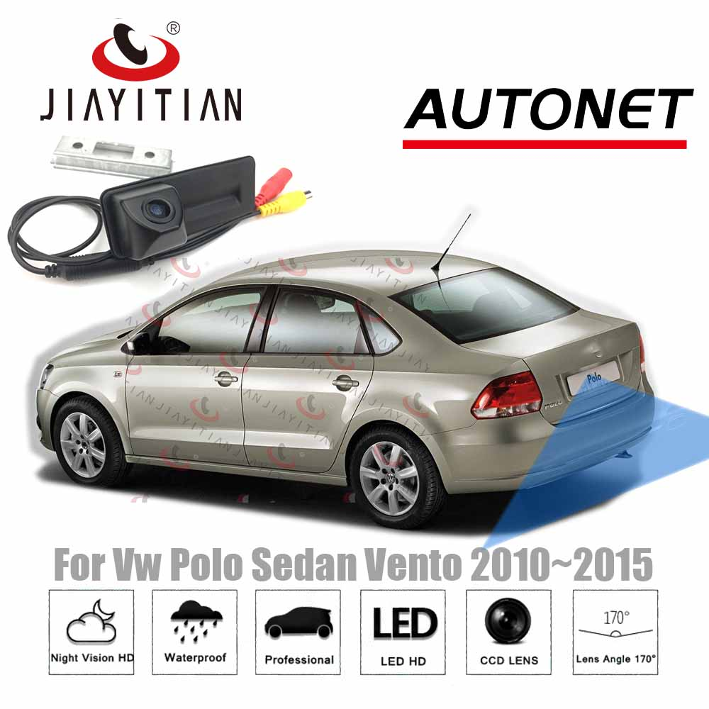 JIAYITIAN Car Trunk Handle Camera For VW Polo Sedan Vento 2010 2011 2012 2013 2014 2015 Rear View  Camera Parking Backup Camera