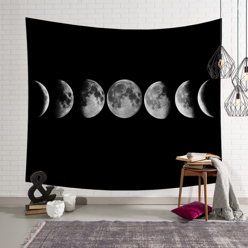 Modern Fashion Art Wall Hanging Tapestry Moon Printed Polyester Wall Cloth Tapestries Beach Throw Towel Decor Yoga Mat Blanket