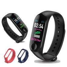 купить M3 band Outdoor Sports Smart Wristband Fitness Bracelet Heart Rate Blood Pressure Monitoring Wristbands Tracker VS Mi band 3 дешево