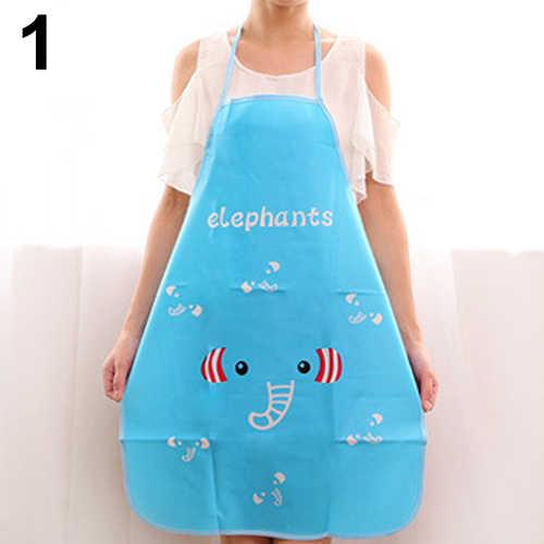 1pc ファッション女性防水漫画エプロンキッチン耐油調理よだれかけチャームエプロン