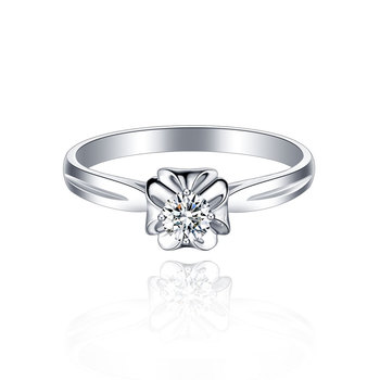 18K Gold And White Gold Platinum Wedding Couple Diamond Ring Men And Women Models Rose Gold Gold Diamond Ring A Carat Genuine