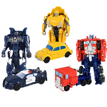 Трансформеры Робот-трансформер мальчик трансформация игрушек автомобиль Optimus Prime Bumblebee Rollbar фигурка развивающие игрушки подарки