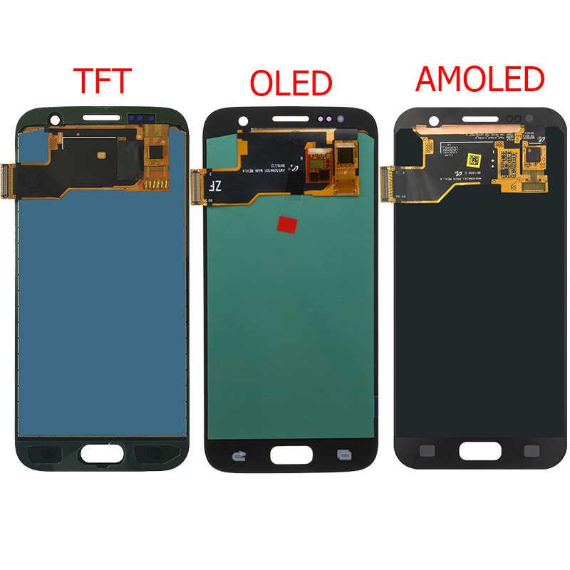 """الأصلي G930F عرض لسامسونج غالاكسي S7 G930F LCD مع الإطار 5.1 """"S7 SM-G930F شاشة LCD تعمل باللمس أجزاء"""