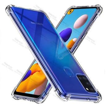 For samsung a21s case transparent clear case For samsung galaxy a21s a 21s a217F sm-a217F/ds phone soft tpu cover coque fundas