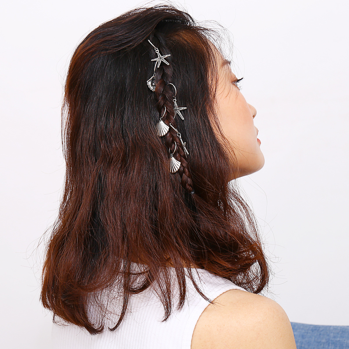 pequena trança clipes de cabelo calha cabeça