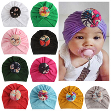 Doughnut Baby Caps Turban Hat Headbands For Newborn Girls Elastic Hair Bands Headwear For Baby Girls Infant Hair Accessories New sunlikeyou baby headband butterfly girls embroidery hair bands for girls kids headbands turban newborn baby hair accessories