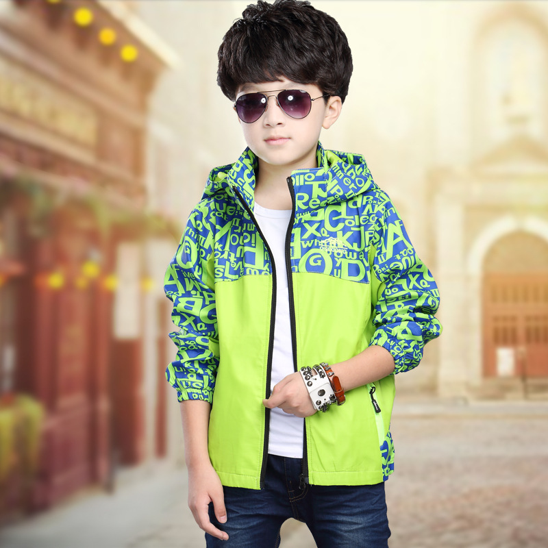 Childrenswear Autumn And Winter Hooded Coat 2019 BOY'S Raincoat Jacket Middle And Large CHILDREN'S Jacket
