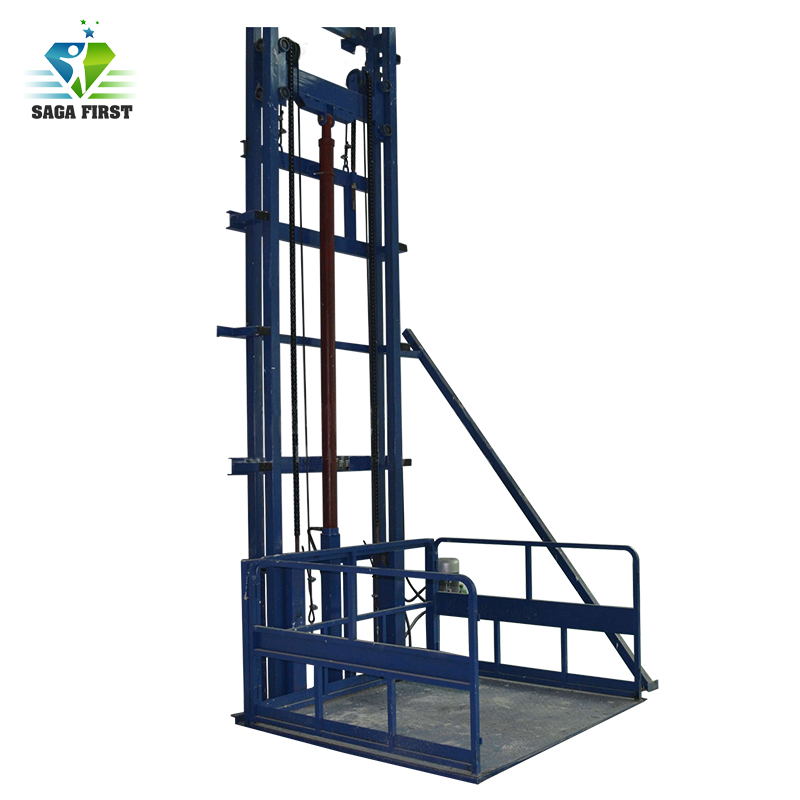 3m To 10m Vertical Floor Cargo Lift Platform Warehouse Heavy Weight Cargo Lift Through Floors
