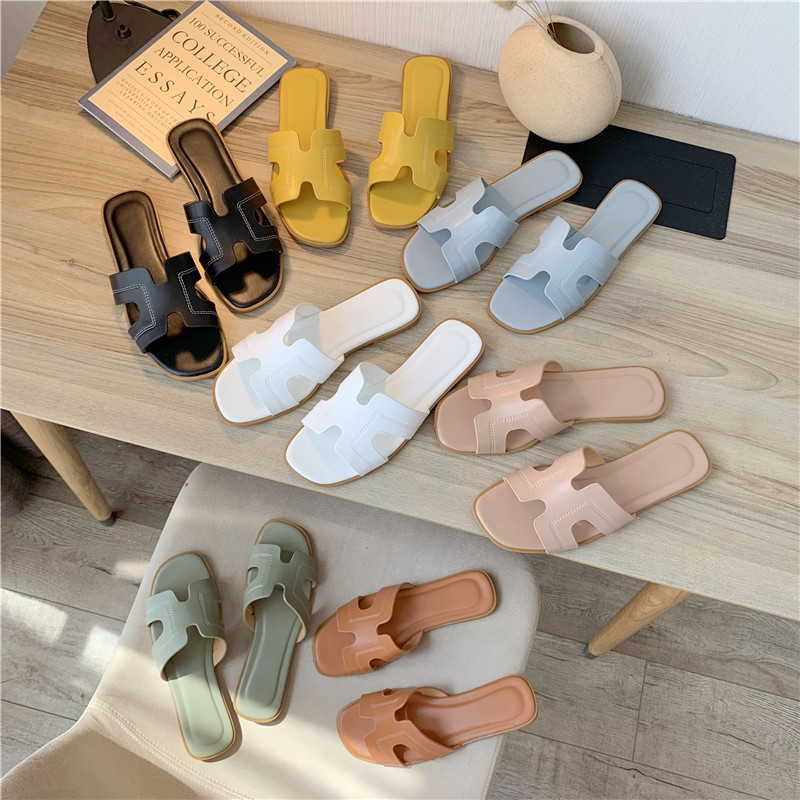 European Grand Prix Slippers Female Summer 2020 New Flat-Bottomed Sandals Field Sandals And Slippers Slippers For Women
