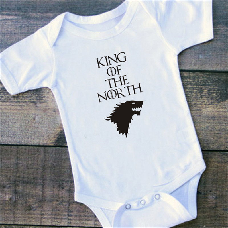 King in the North baby vest boys girls