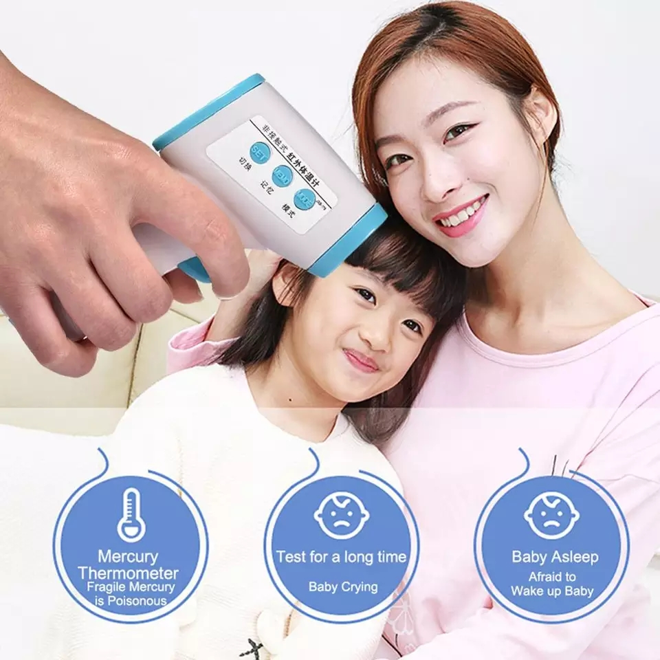 ABAY Infrared Forehead Thermometer Best Baby Thermometer LCD Digital Termometro Non-contact Body Temperature Measure Device