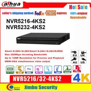 Image 1 - Dahua NVR 4K H.265 וידאו מקליט NVR5216 4KS2 NVR5232 4KS2 16CH 32CH עד 12Mp רזולוציה תצוגה מקדימה והשמעה Tirpwire DVR