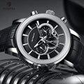Автоматические военные часы RUIMAS  водонепроницаемые спортивные наручные часы  кожаные механические часы с ремешком  мужские часы 6767