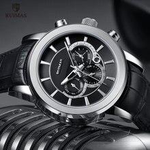RUIMAS automatyczne zegarki wojskowe wodoodporne sportowe skórzany pasek do zegarka mechaniczny zegarek człowiek Relogios Masculino zegar 6767