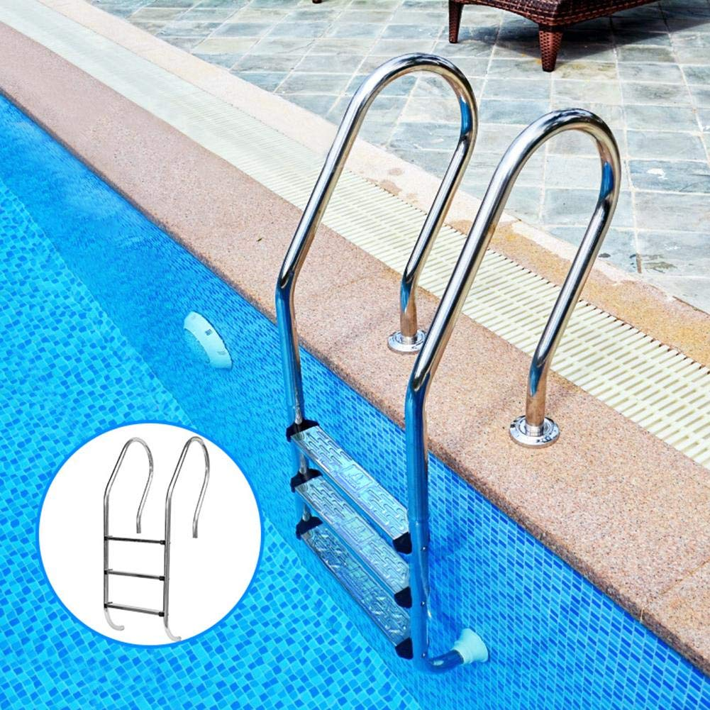 304 Stainless Steel Escalator Pedal Pool Ladder Accessories Non-slip Pedal Swimming Pool Accessories Antiskid Ladder Silvery