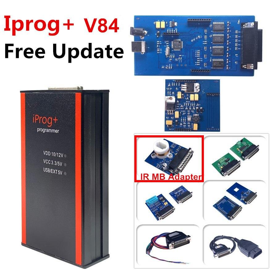 DHL Free Iprog V84 Programmer wsparcie IMMO + korekta przebiegu + resetowanie poduszki powietrznej do roku 2019 wymień Carprog Full V77 Iprog