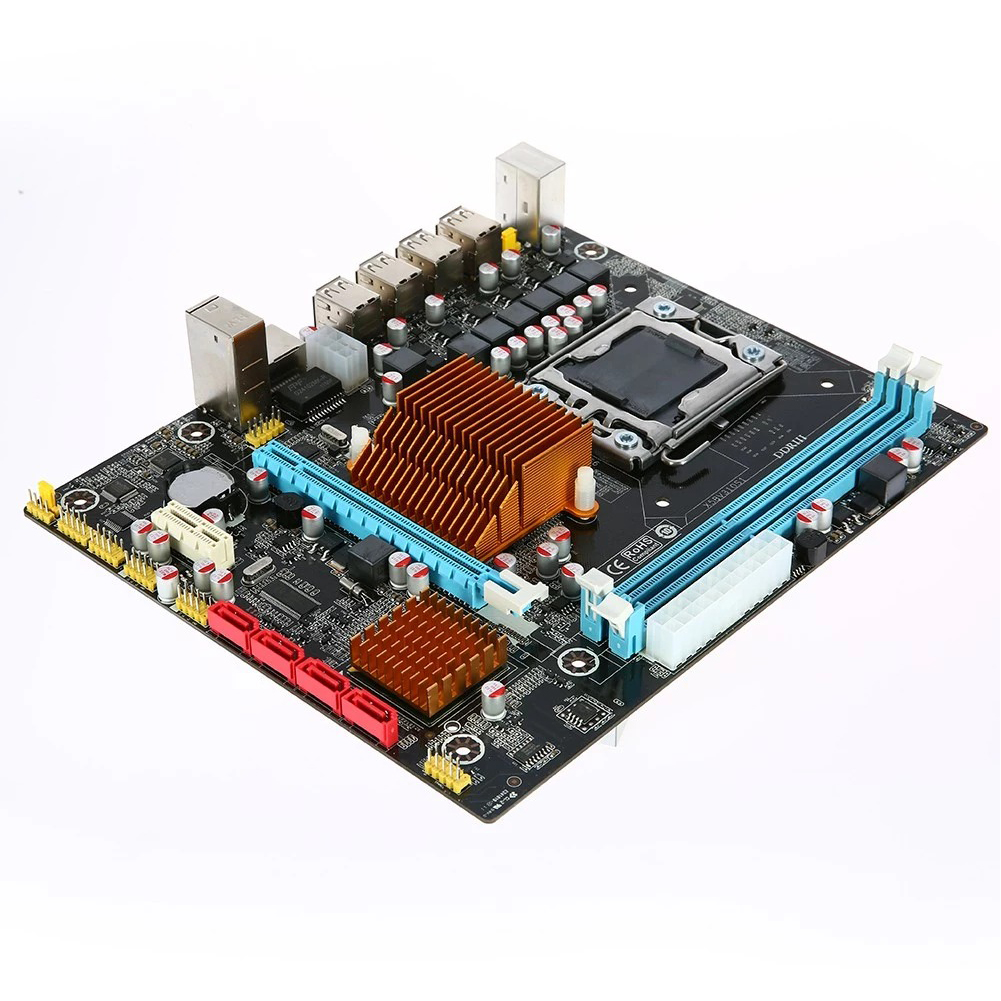 <font><b>X58</b></font>-1366 Accessories Stable Home <font><b>Motherboard</b></font> Set <font><b>Dual</b></font> Channel Teaching Professional DDR3 ECC Memory Durable Single CPU Desktop image